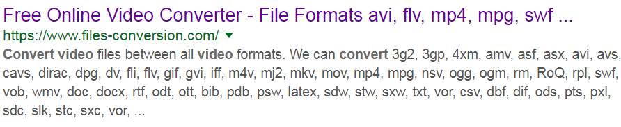 Files Conversion Formats - Free Online Converter