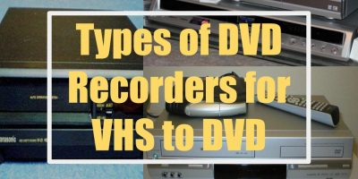 Types of DVD recorders