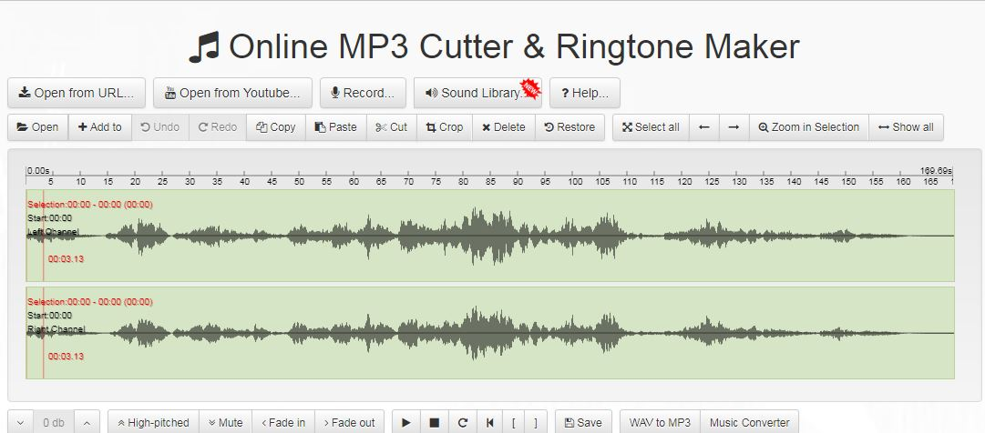 Bear audio online mp3 cutter free