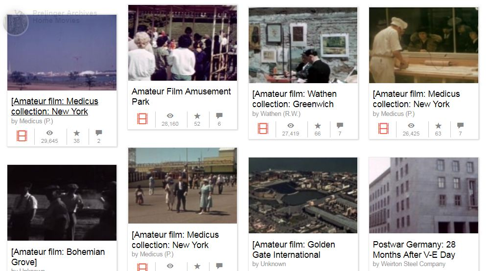 Prelinger Archives Public Domain Home Video Clips