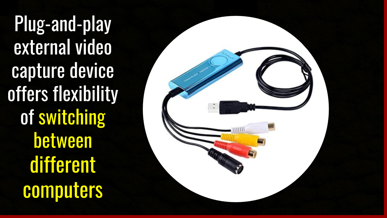 Plug-and-play USB Analog to Digital video capture-devices