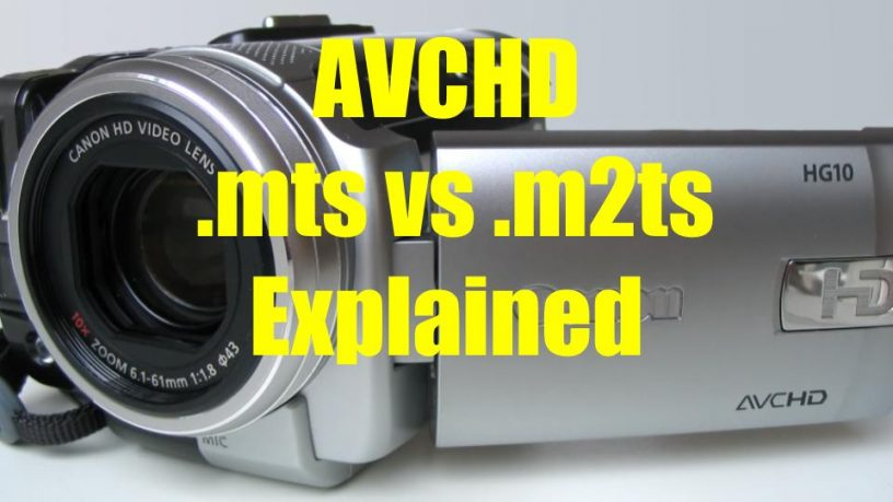 AVCD MTS vs M2TS