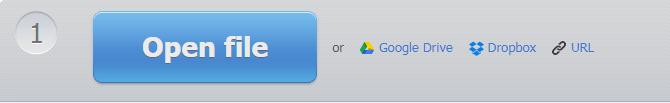 Convert Video Online -Upload Options