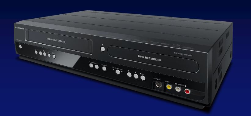 Funai VCR DVD Recorder Combo