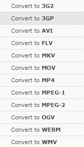 Online Convert Conversion Options