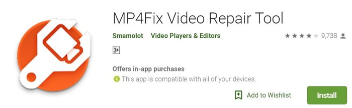 MP4Fix Android Video Repai Tool