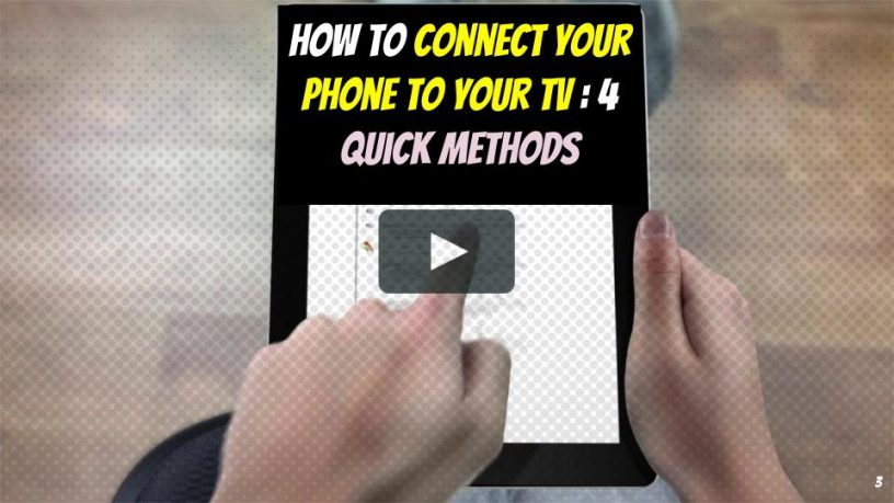 How to Connect Your Phone to Your TV Now