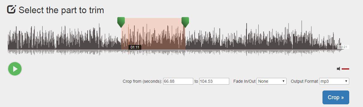 Audio Trimmer - Free Online MP3 Cutter