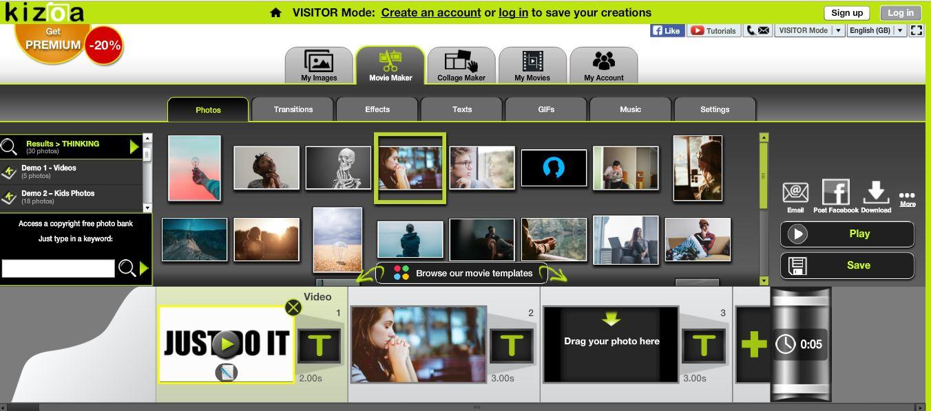 Kizoa Online Free Video Editor