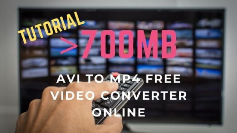 AVI to MP4 free online 700MB