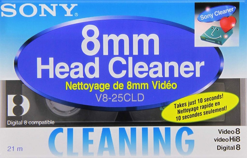 8mm camcorder head cleaning cassette