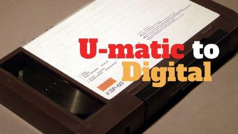 U-matic to Digital