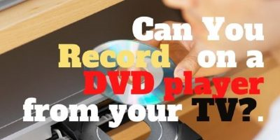 can you record on a DVD player from your TV.