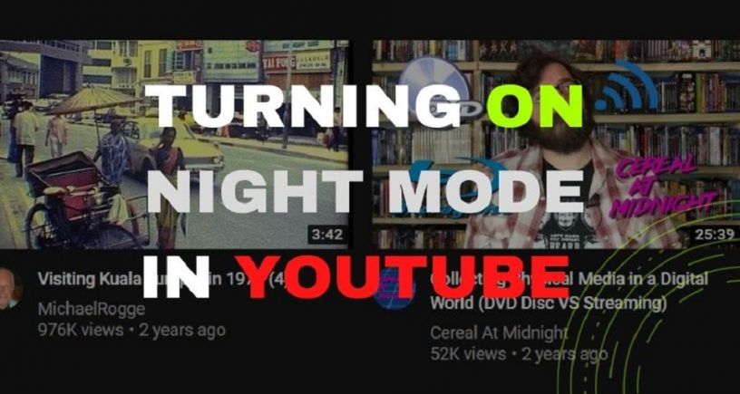 Turning on Night Mode in YouTube Featured