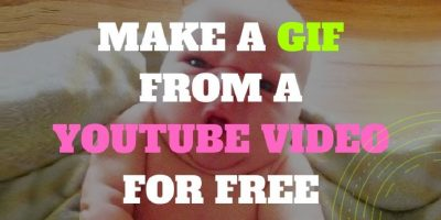 how to make a GIF from a YouTube video for free