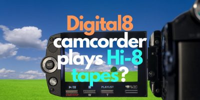 Digital8 camcorder plays Hi-8 tapes