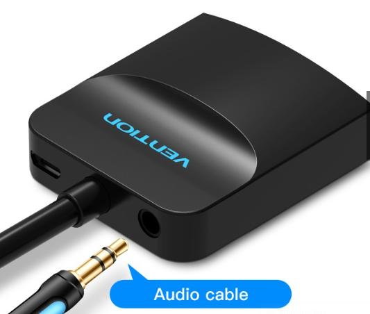 Audio port for VGA to HDMI converter