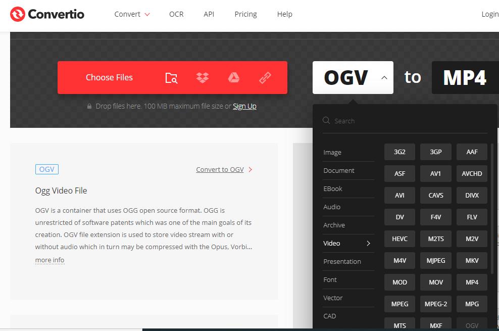 Convertio free online video converter