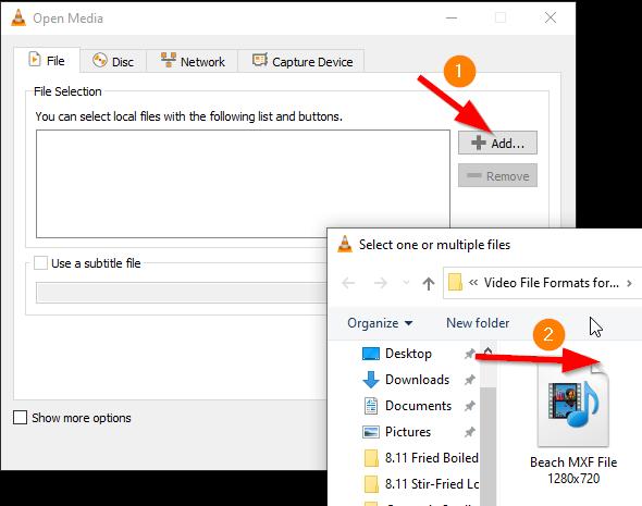 convert MXF to MP4 free VLC 2
