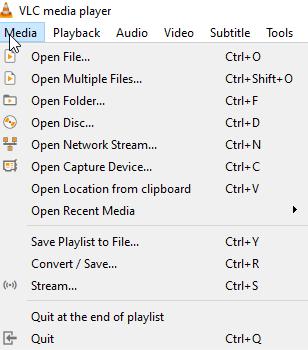 free DVD player software - VLC 1