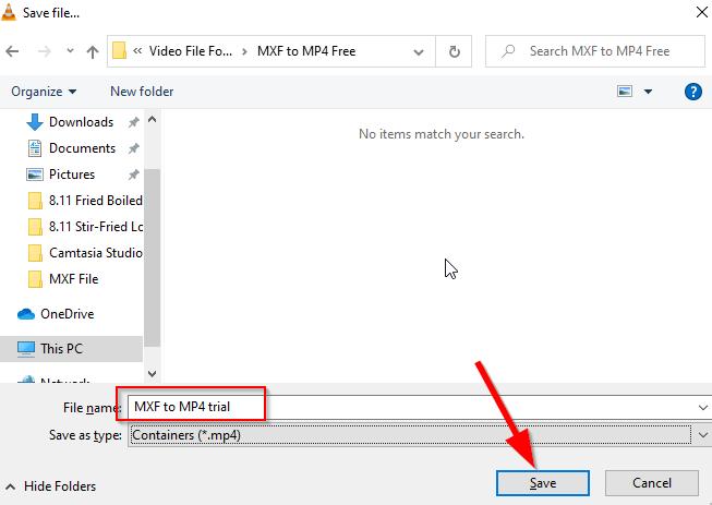 convert MXF to MP4 free VLC 5