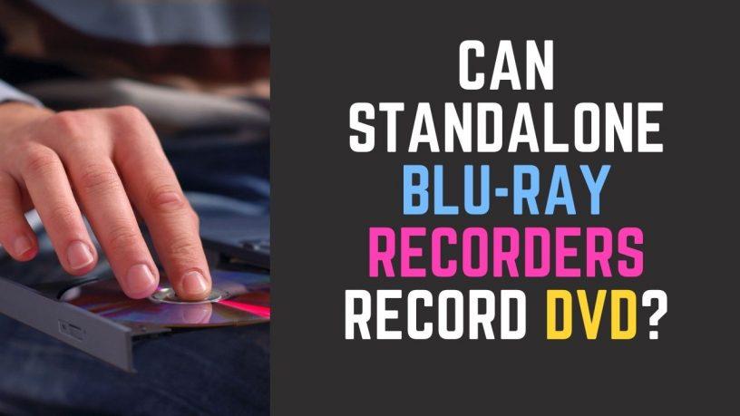 Standalone Blu-ray Recorder Record DVD