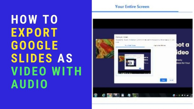 Export Google Slides to Video With Audio