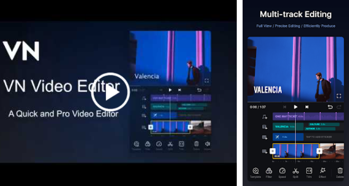 VN Free Android Video Editor without Watermark