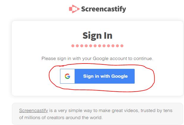 Screencastify - Google Slides to video options