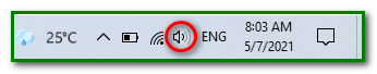 adjusting the volume level on the speaker/headphone volume control button for no sound sound on youtube video