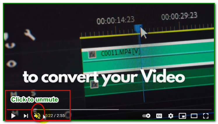 check mute/unmute audio function on the YouTube player for no sound sound on youtube video