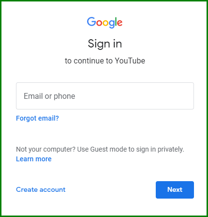 Recover YouTube Account with Username 2