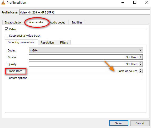Change video frame rate in VLC media player 4