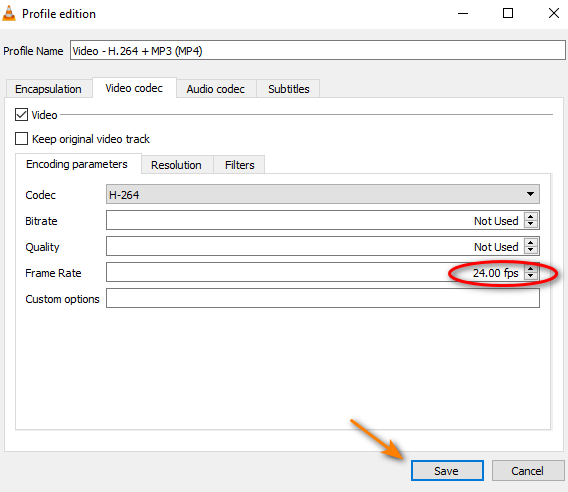 Change video frame rate in VLC media player 5