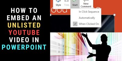 Embed Unlisted YouTube Video in PowerPoint