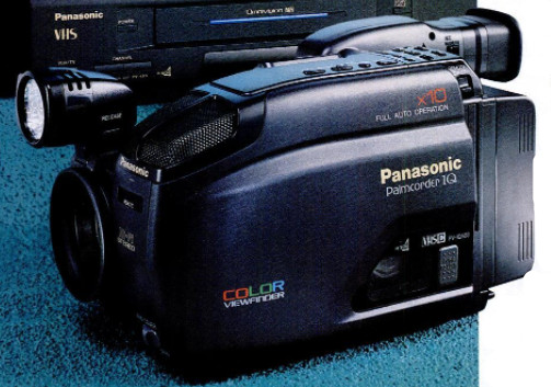 Convert VHS to DVD without a VCR - Panasonic VHS palmcorder