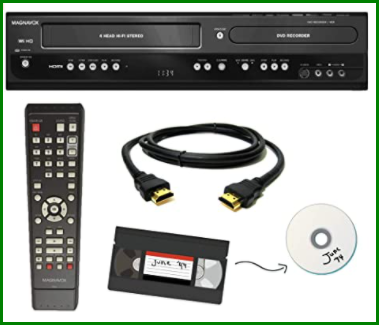 Convert VHS to DVD without a VCR - VHS-DVD recorder combo