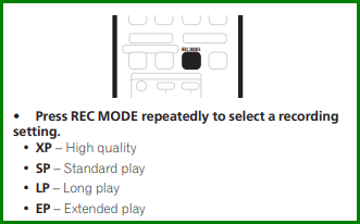DVD Recording Modes 2